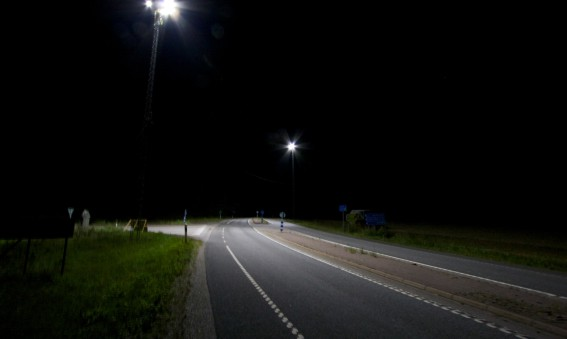 Trafikverket spar 86% energi på väg 77
