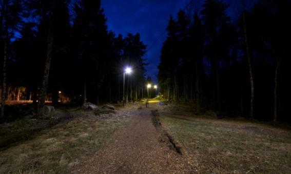 Knivsta kommun - LED med rörelsesensor i elljusspåret