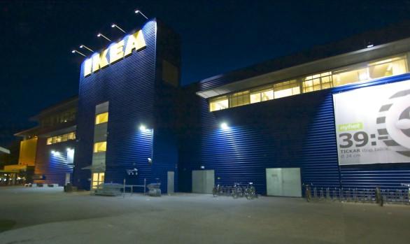 Skylt och annonsbelysning, IKEA Kungens Kurva