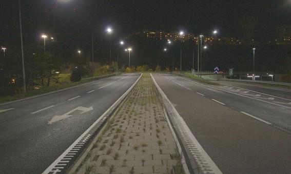 Väg 260 (Sicklavägen) - bättre ljus och lägre energiförbrukning med ny LED-belysning