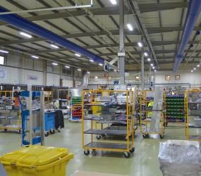 Smart LED i Marels produktionslokaler