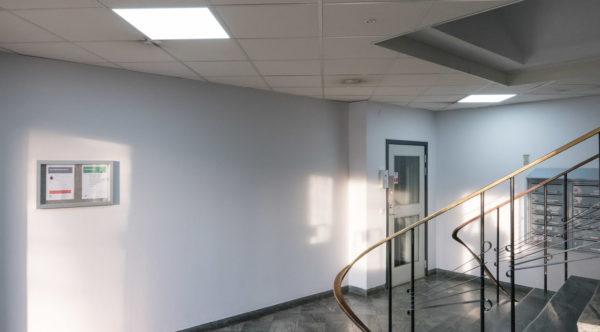 Ny belysning i entré och trapphus i Elektrahuset