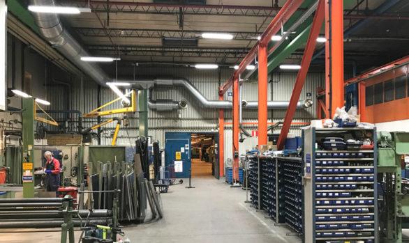 NKT ville ha Smart LED i serviceverkstaden
